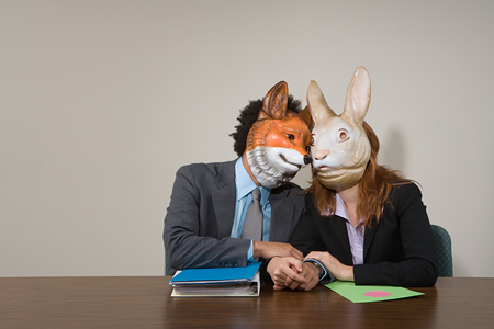 concealment: Colleagues wearing masks