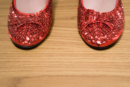 sparkly: Red sparkly shoes Stock Photo