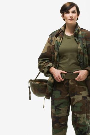 Portrait of a woman soldier Фото со стока - 102144729
