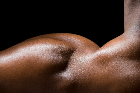 cropped shots: A mans shoulder Stock Photo