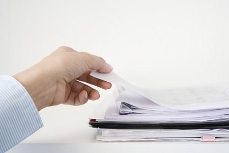 書類を持つ人 写真素材