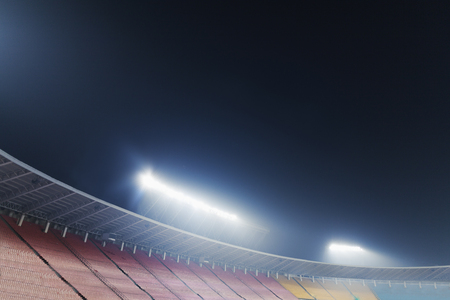 View of stadium lights at night LANG_EVOIMAGES