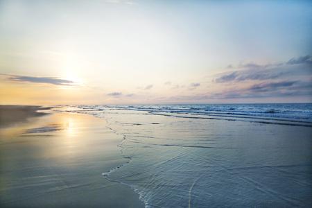 Vista della spiaggia di alba