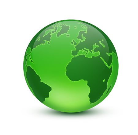 atlantic ocean: Green Earth Stock Photo