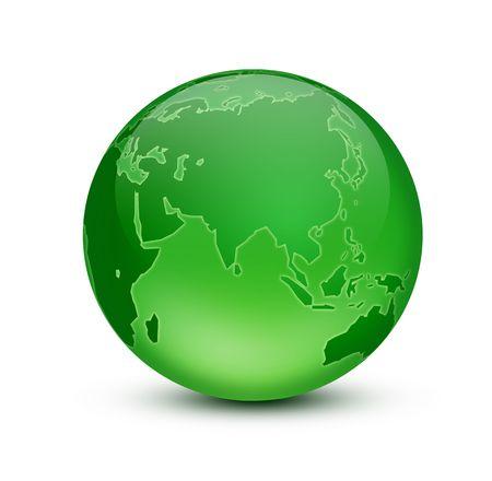 earth logo: Green Earth Stock Photo
