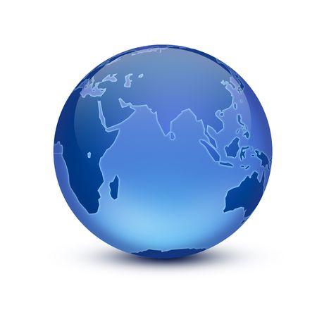 globe logo: Crystal Earth Stock Photo