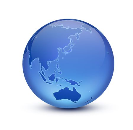geodesy: Crystal Earth Stock Photo