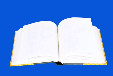 civilized: Open book with blank pages Stock Photo
