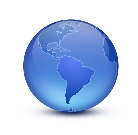protect globe: Crystal Earth Stock Photo