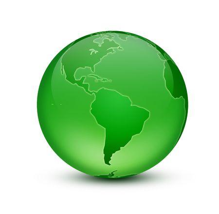 geodesy: Green Earth Stock Photo
