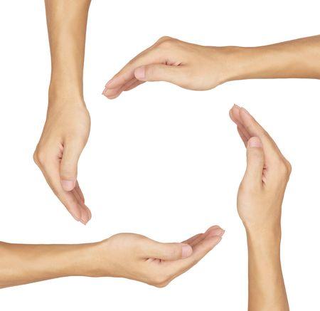 protect earth: hand