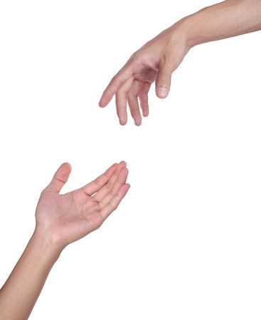 Two hands isolated on a white background. Stock Photo - 5563147