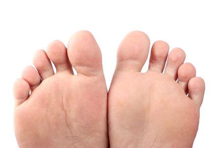 fem: Feet , isolated on white background  Stock Photo