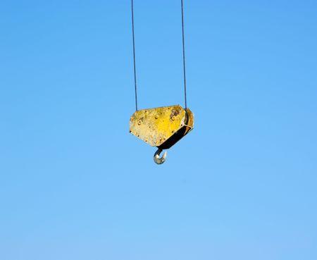 cleek: crane hook isolated