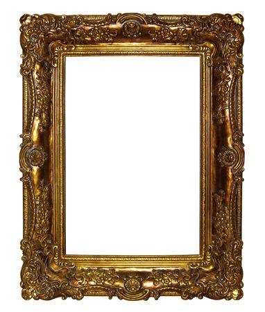 Oro picture frame, isolata su sfondo bianco.