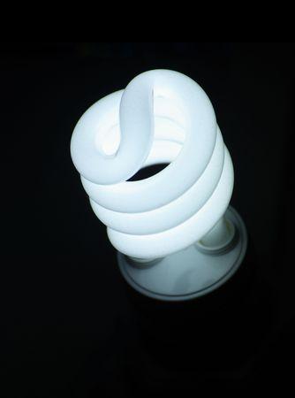 Compact fluorescent efficient power saving light bulb