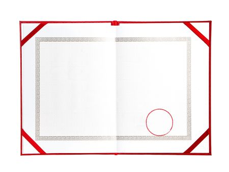 distinction: A blank certificate. Ready to be filled with your individual text. Stock Photo