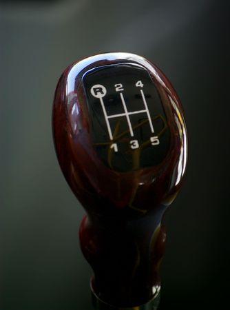 A manual shift gear lever photo