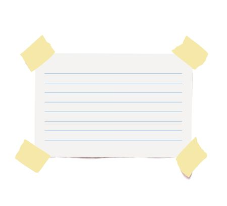 foursquare: White adhesive lined paper on white background