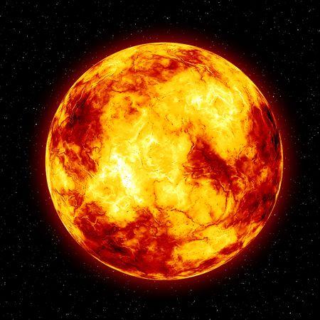 燃える太陽 写真素材