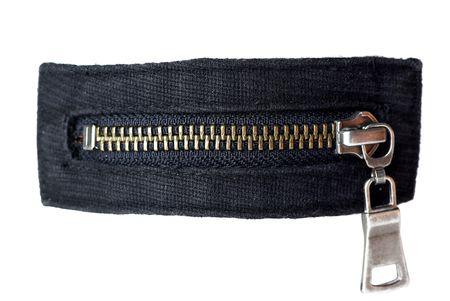 Zipper Isolated on white background photo