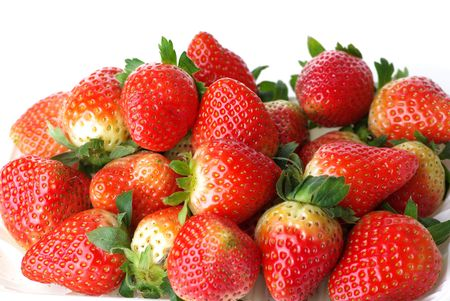 Strawberries isolated over white background Stock Photo - 6659686