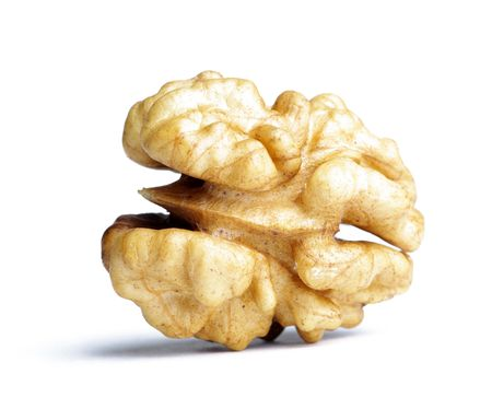 Walnut on the white background (isolated).  Stock Photo - 6659727
