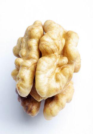 Walnut on the white background (isolated).  Stock Photo - 6659724