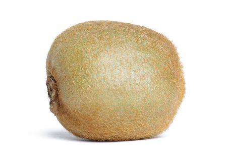actinidia deliciosa: kiwi fruit (Actinidia deliciosa) isolated on white