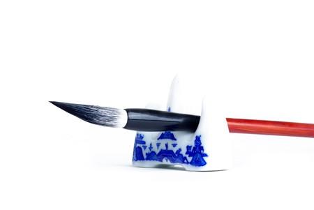 Chinese brush  Isolated on white background Stock Photo