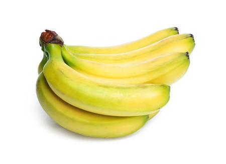 Ripe banana isolated on white background Stock Photo - 6984117