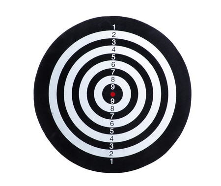 Target Isolated on a white background photo
