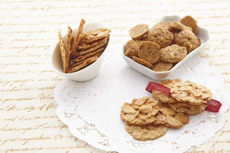 tea and biscuits: Afternoon tea biscuits Stock Photo