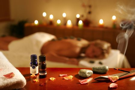 muscle toning: Romantic spa procedure in hotel