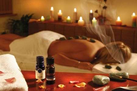 muscle toning: Romantic spa therapy for a woman