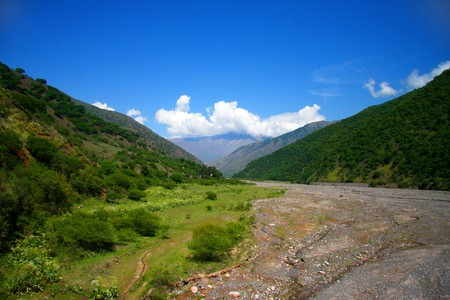 Amazing Argentina summer landscape in the Ands photo