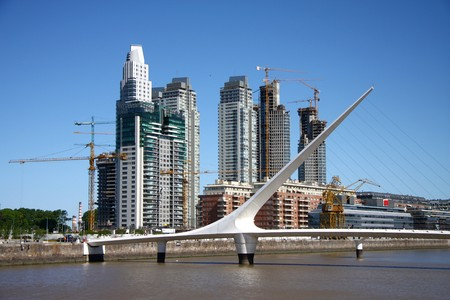 Landscape to capital of Argentina Buenos Aires Stock Photo