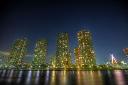 Night landscape HDR in Japan Stock Photo - 2584292