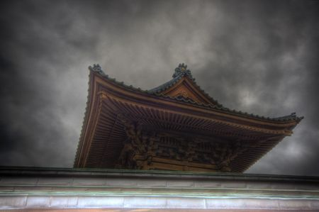 Traditional temple HDR in Japan photo