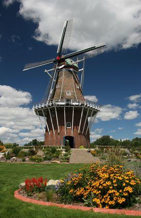 Een oude Nederlandse windmolen