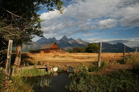 An old barn in the Grand Tetons