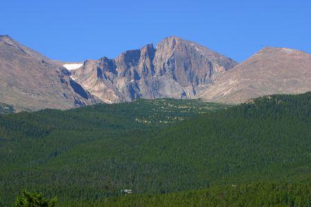 longs peak: A view of Longs Peak in Rocky Mountain National Park