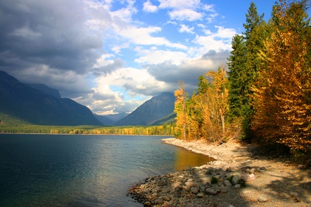 mcdonald: Storm clouds moving in over Lake McDonald