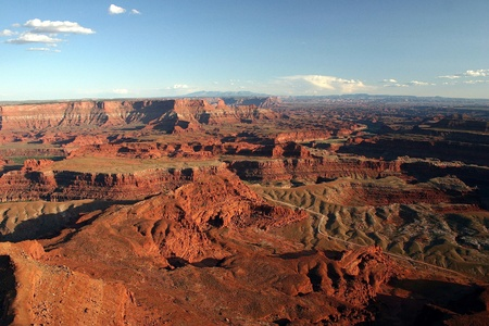 fading: A view of Canyonlands in fading daylight