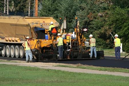 Repaving a road near Holland, MI on October7, 2007