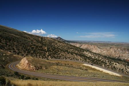 A scenic mountain road in northeastern Utah Stock Photo