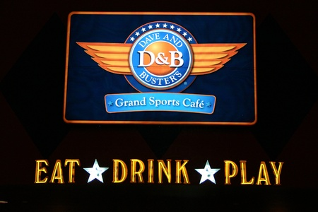 Nashville, TN - May 9, 2006: Neon sign for Dave and Buster's Sports Cafe Stock Photo - 11200308