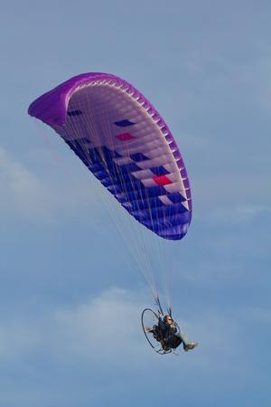 Galveston Island, TX - January 6, 2012 : A powered paraglider in flight