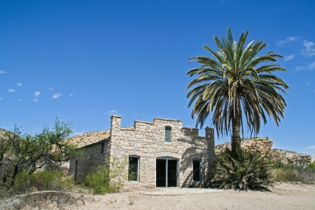 An old abandoned stone building in Big Bemd National Park Stock Photo