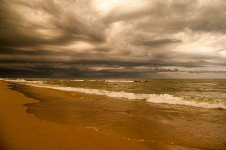 Storm clouds over Lake Michigan